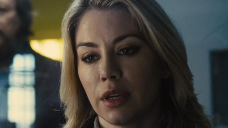 Emilia looking tense