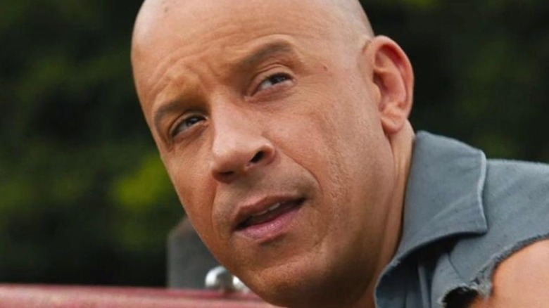 Dominic Toretto looking up