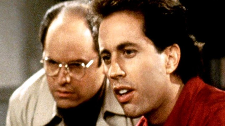 George and Jerry in Seinfeld