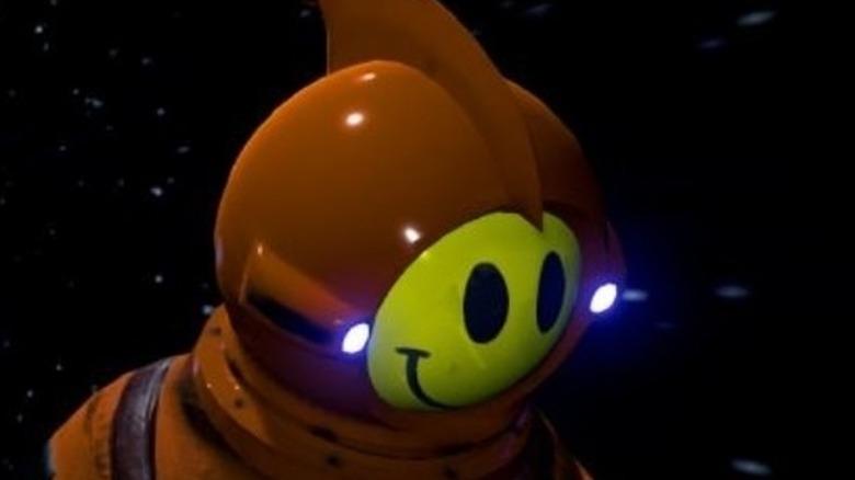 Smiley face spaceman