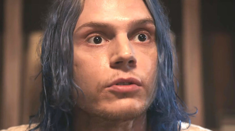 Kai Anderson looking at something off-camera in AHS: Cult