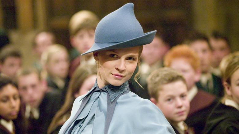 Fleur Delacour wearing a felt hat