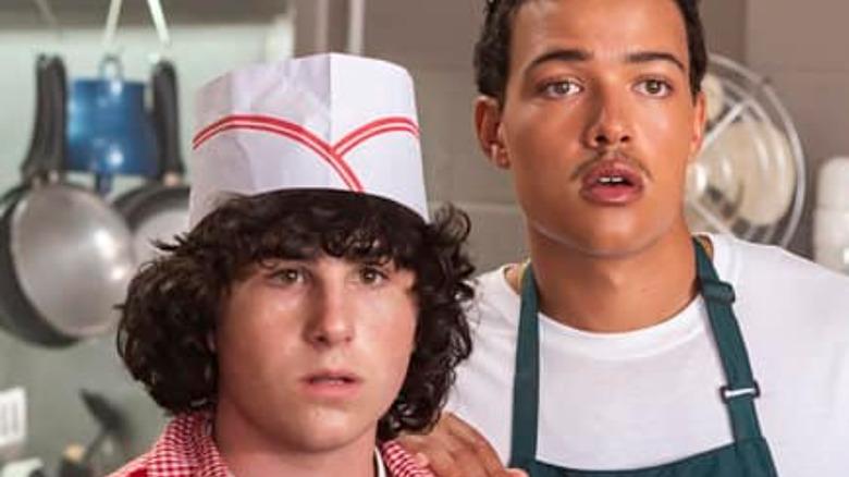 aj Cross as Gabe, Bradley Constant as Dwayne in Young Rock