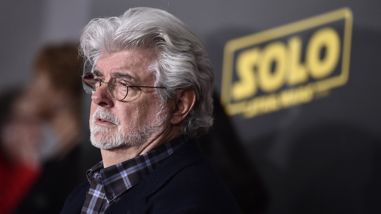 George Lucas attends the premiere of Solo: A Star Wars Story