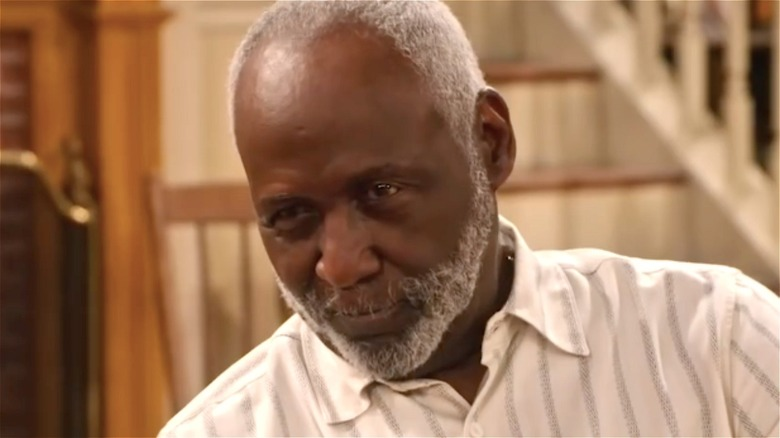 Richard Roundtree looking serious
