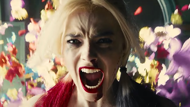 The Suicide Squad Harley angry