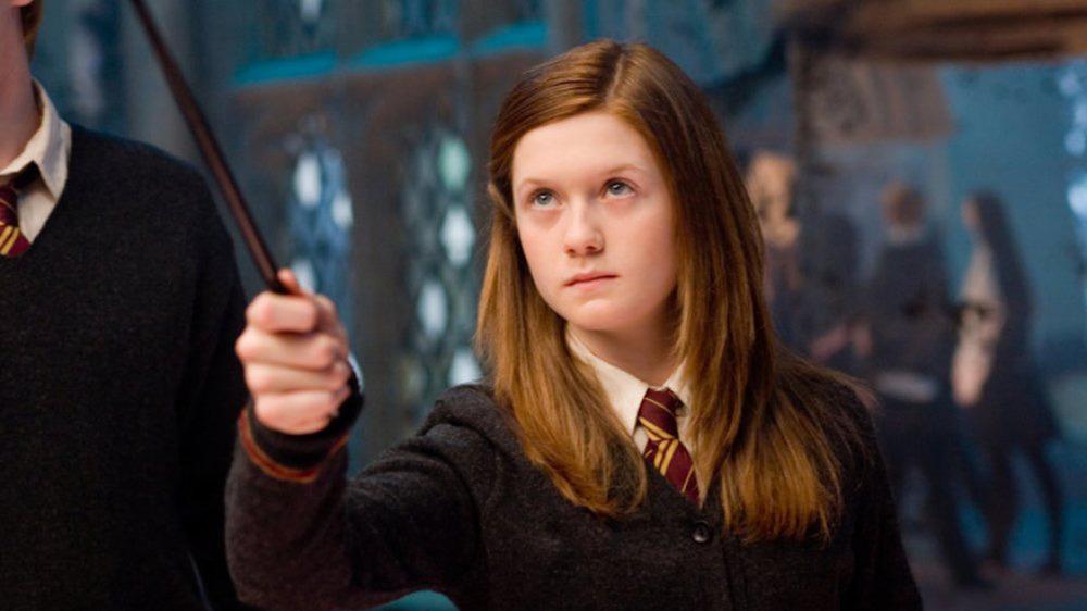 Ginny Weasley casting spell