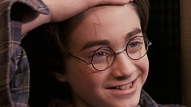 Daniel Radcliffe as Harry Potter in the Sorcerer's Stone