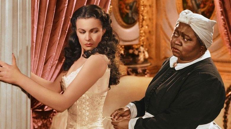 Vivien Leigh and Hattie McDaniel as Scarlett and Mammy in Gone with the Wind