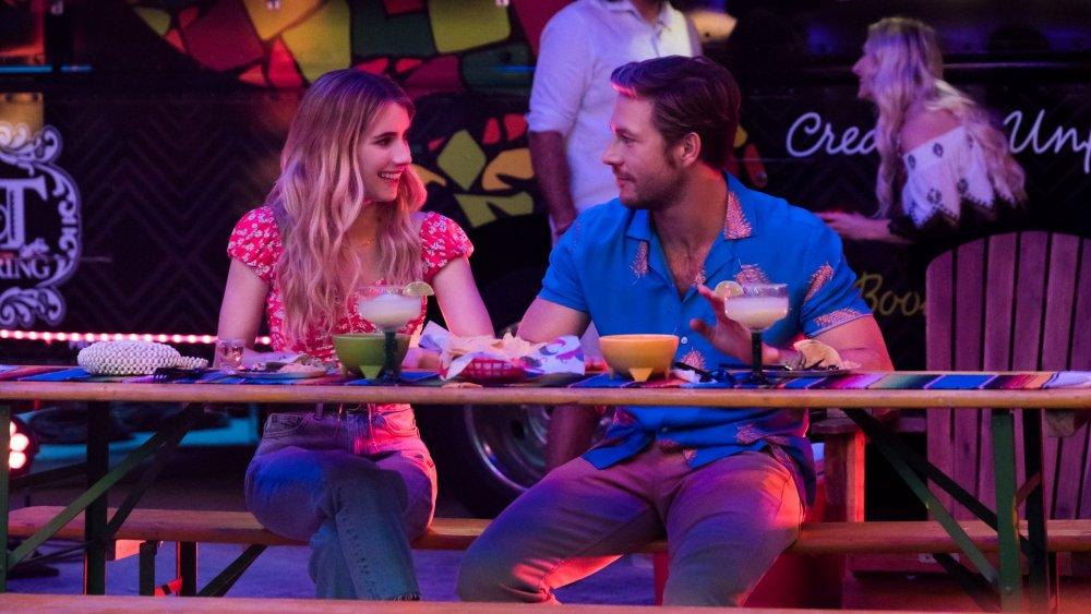 Emma Roberts as Sloane and Luke Bracey as Jackson in Netflix's Holidate