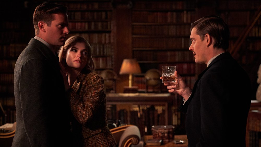Armie Hammer, Lily James, and Sam Riley in Rebecca