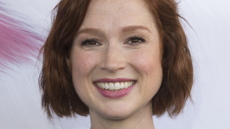 Ellie Kemper on the phone in The Stand In