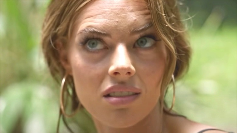 Samara Weaving side-eyeing a co-star