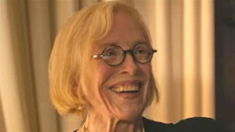 Joan smiling