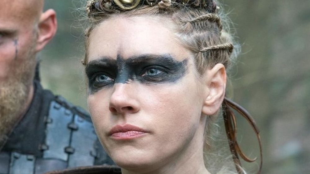 Lagertha wearing black paint