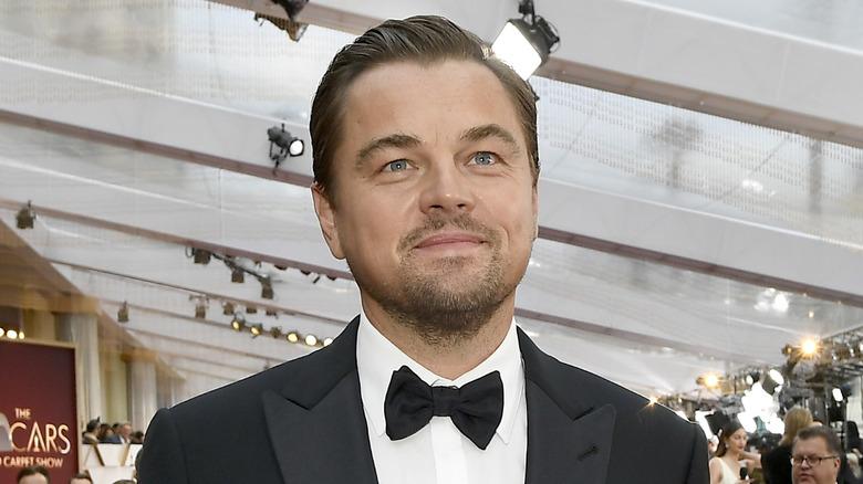 Leonardo DiCaprio smiling