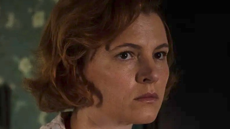 Amy Seimetz looking concerned