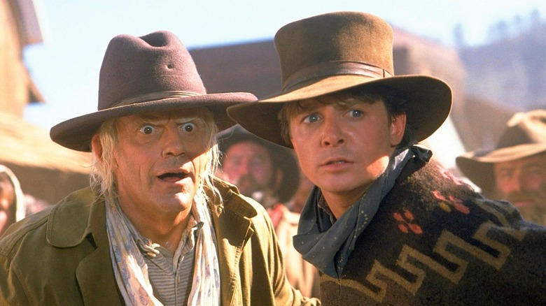 Christopher Lloyd and Michael J. Fox in Back to the Future Part III