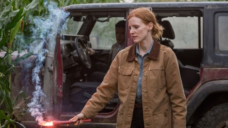 Jessica Chastain and Casey Affleck in Interstellar