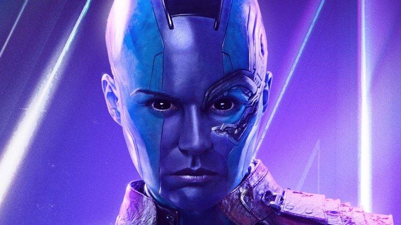 Karen Gillan as Nebula in Avengers: Infinity War