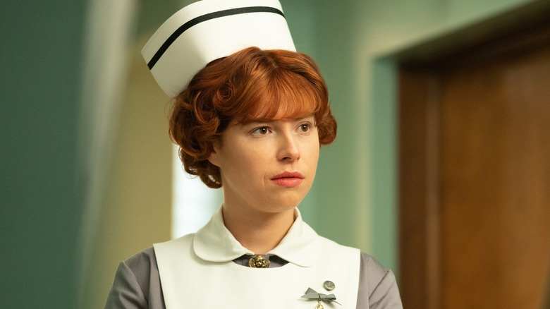 Jessie Buckley as Nurse Oraetta Mayflower in Fargo