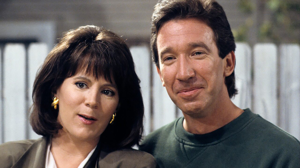 Patricia Richardson and Tim Allen as Jill and Tim Taylor on Home Improvement