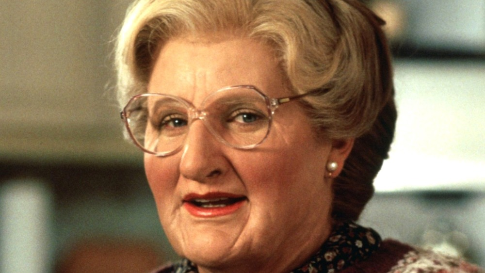 mrs. doubtfire robin williams closeup