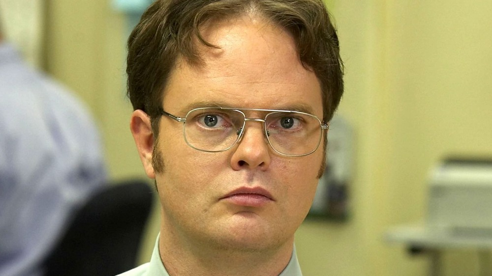Dwight Schrute staring off