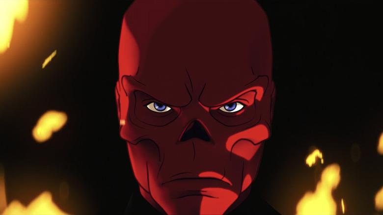 Red Skull staring
