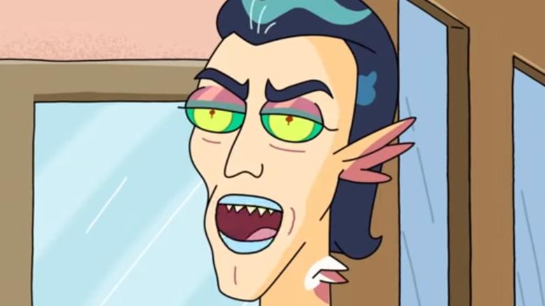 Mr. Nimbus preening on 'Rick and Morty'
