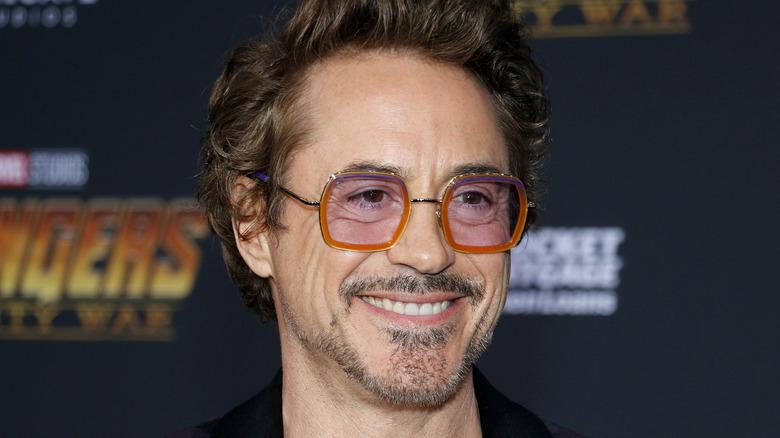 Robert Downey, Jr. smiling