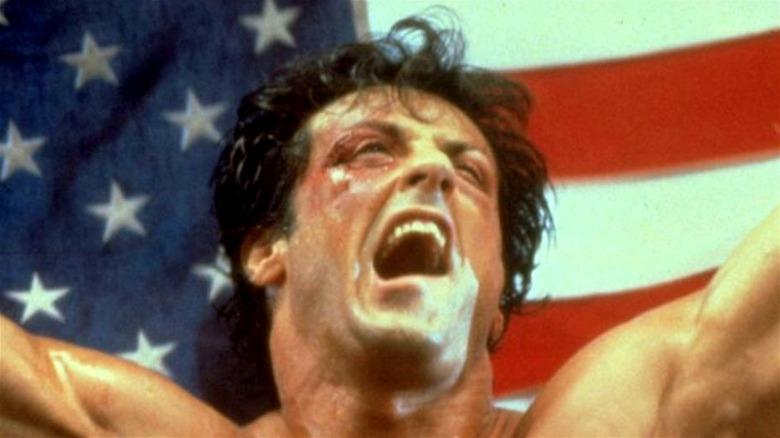 Rocky cheering