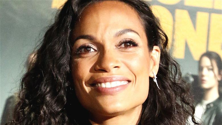 Rosario Dawson smiling