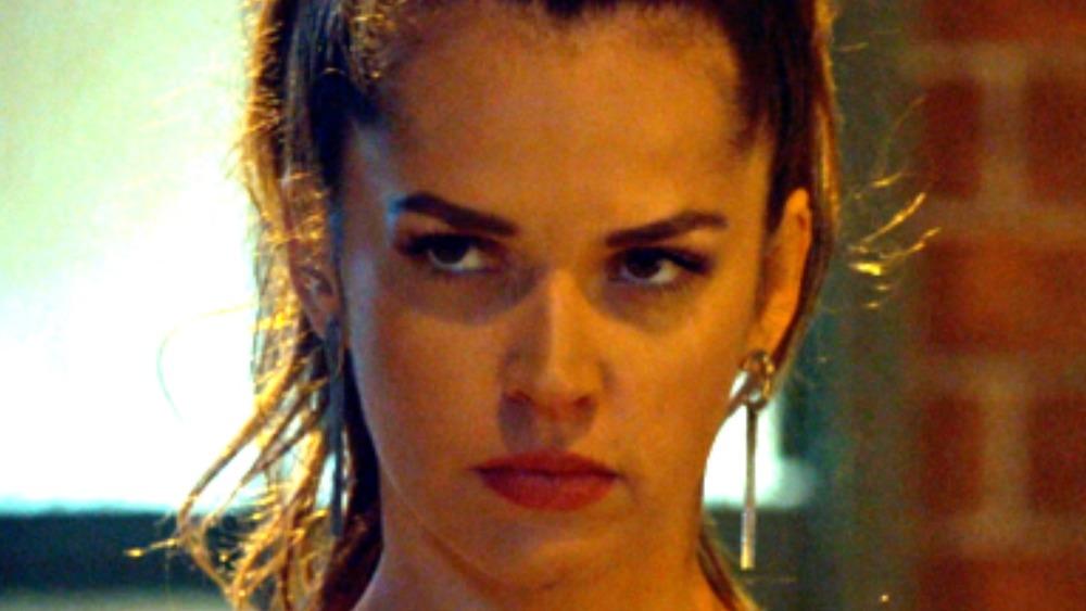 Rosita Bustillos looking stern