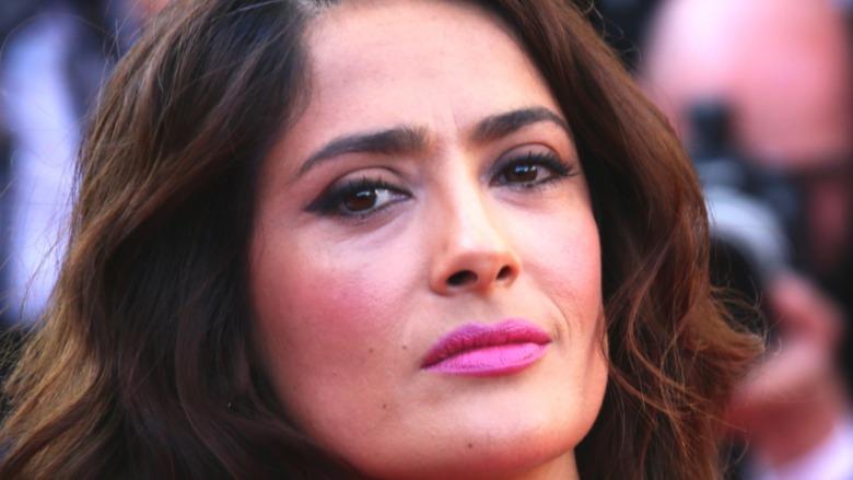 Salma Hayek in glamorous makeup