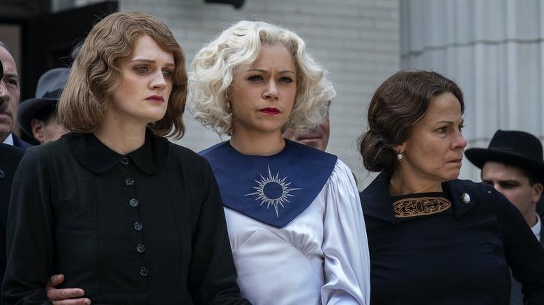 Tatiana Maslany as Sister Alice on HBO series Perry Mason