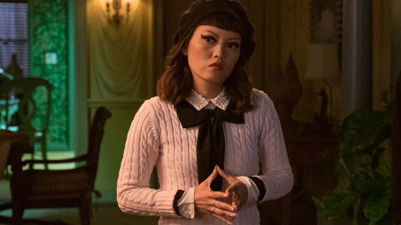 Hana Mae Lee as Sonya in The Babysitter