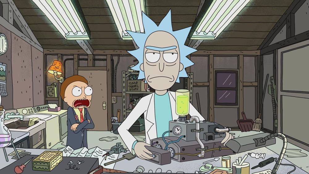 Rick and Morty in Rick Potion No. 9
