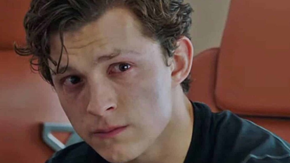 Peter Parker crying