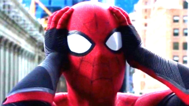 Spider-Man costume alarmed