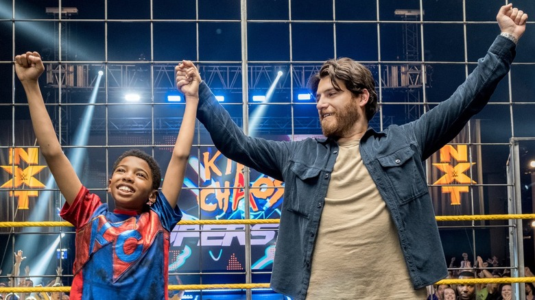 Seth Carr and Adam Pally as Leo and Steve in The Main Event