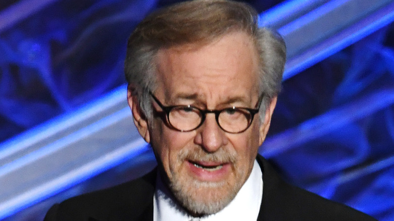 Steven Spielberg posing