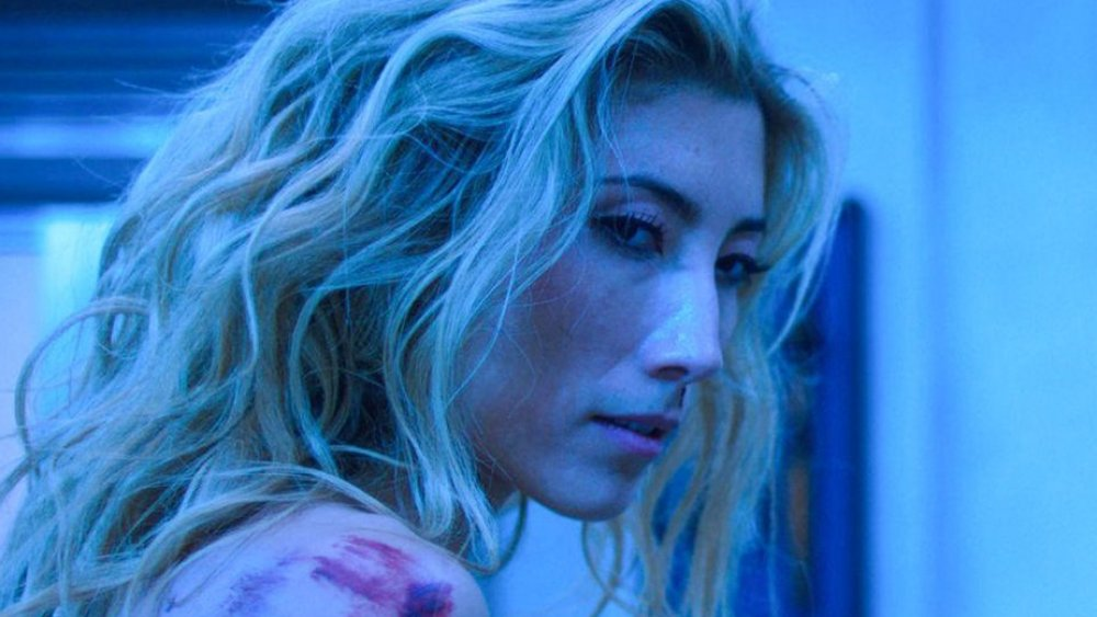 Dichen Lachman as Reileen Kawahara on Altered Carbon during sword fight scene