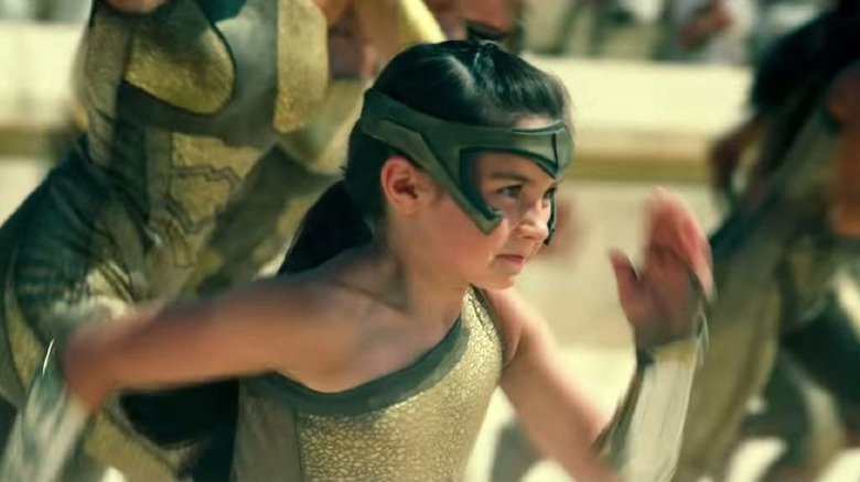 Lilly Aspell as Diana in Wonder Woman 1984