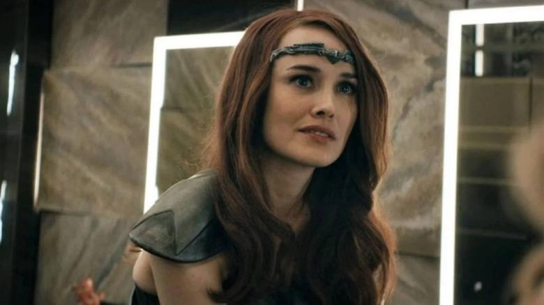 Dominique McElligott as Queen Maeve on Amazon's The Boys