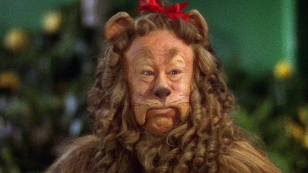 Bert Lahr as the Cowardly Lion in The Wizard of Oz