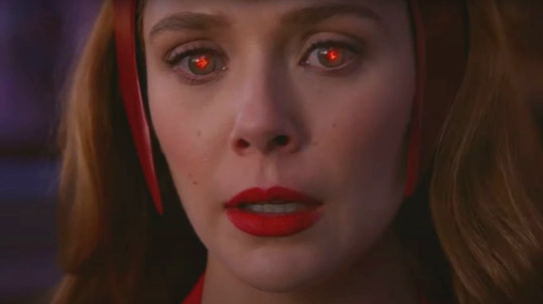 Wanda glowing red eyes