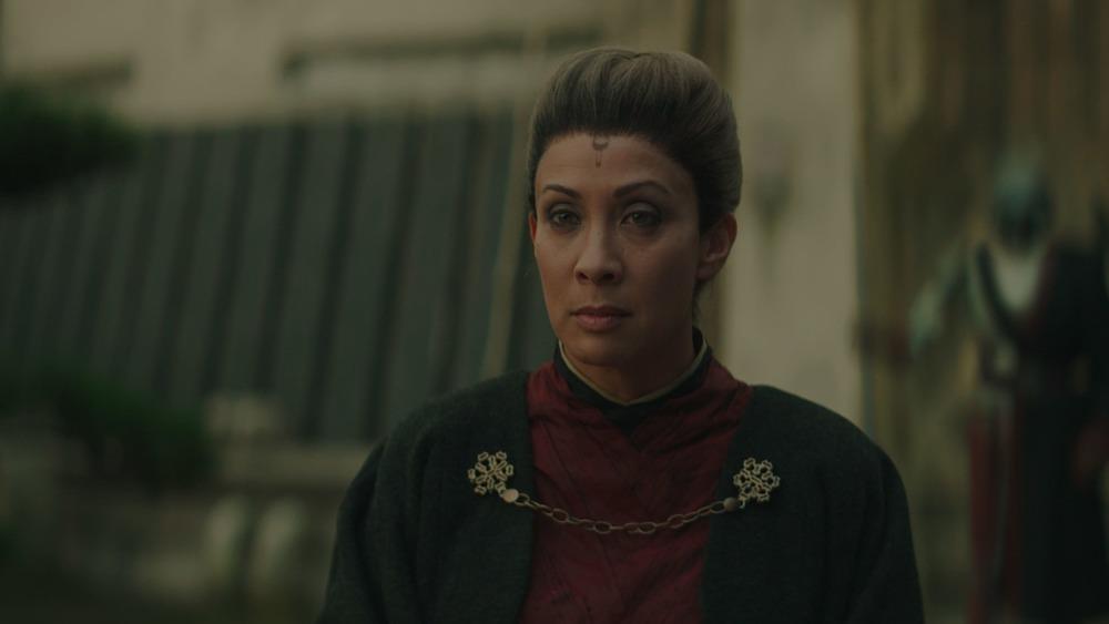 Diana Lee Inosanto as Magistrate Morgan Elsbeth on The Mandalorian