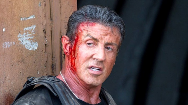 Sylvester Stallone Bloody Expendables