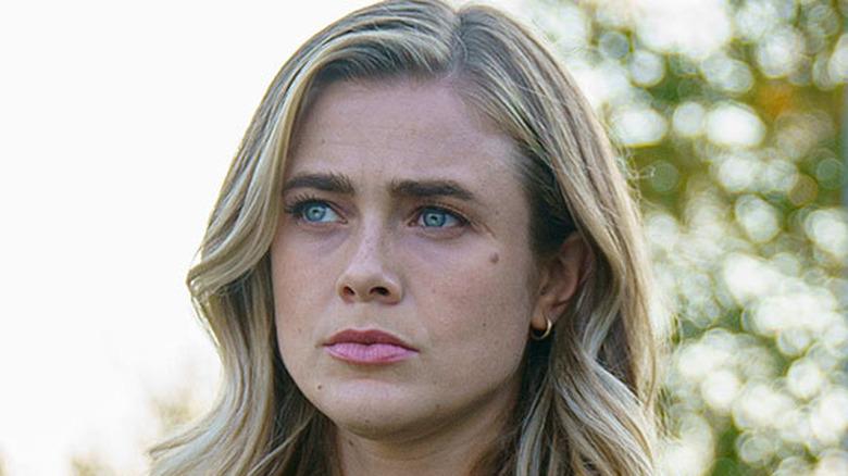Melissa Roxburgh Michaela Stone worried